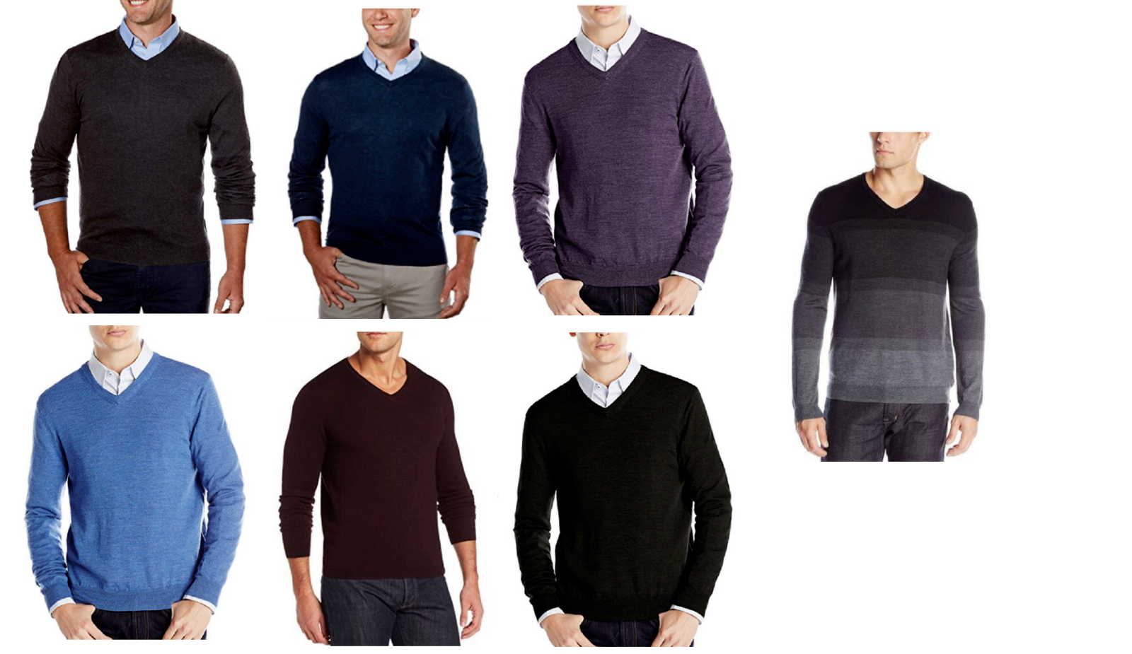Calvin Klein Men's Lightweight Merino V-Neck Sweater
