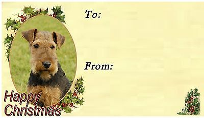Welsh Terrier Christmas Labels by Starprint