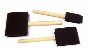 3 Sponge Foam Brush dabbers brushes  Wooden Handle craft