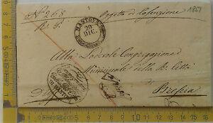 Prefilatelia-1851-Lettera-da-Mantova-a-Brescia-annullo-rotondo-con-arrivo