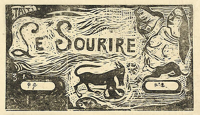 Gauguin Woodcuts: Le Sourire (The Smile) - Fine Art Print