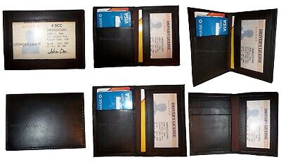Business Card Case New Slim Leather Credit Business Card Case 2 Id 3 Card Spaces