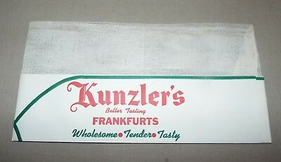 NOS VINTAGE EMPLOYEE KUNZLER'S BETTER TASTING FRANFURTS HOT DOGS (Best Tasting Hot Dogs)