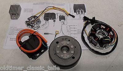 Lichtmaschine Kontaktlose Zündung Kreidler Zündapp  Kokusan EVO 50cc 12v 85W