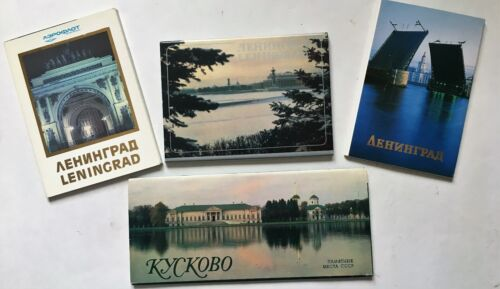 Lot of Four Sets of Post Cards. Printed in Russia.  (B)  (BI#BDR/BX/180717)