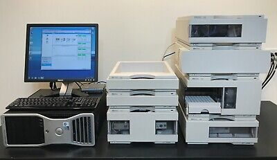 Agilent Hp 1100 Series 7-piece Hplc System Dad Computer Wchemstation
