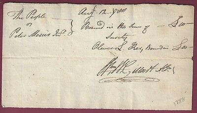 Early American Manuscript Document Clearly Dated Aug. 12, 1788 for sale  Binghamton