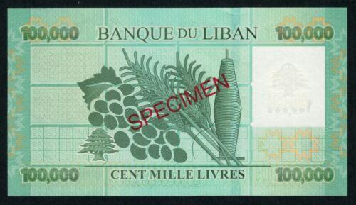 Lebanon 100000 Livres 2012 SPECIMEN UNC  Liban Libano
