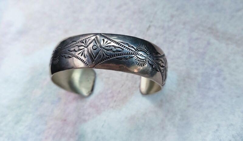 Vincent Platero -  VJP - Navajo Sterling Silver Cuff Bracelet
