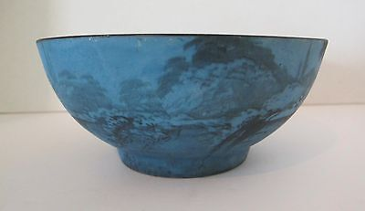 Rare Pickard Midnight Blue Bowl, signed Challinor