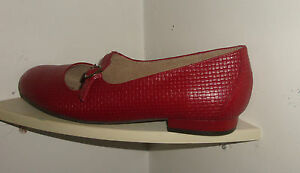 WOMEN'S SHOES-HOMY PED- 8.5 C-RED -CLOSED TOE,BACK-PUMPS-LEATHER-NEW WITHOUT TAG