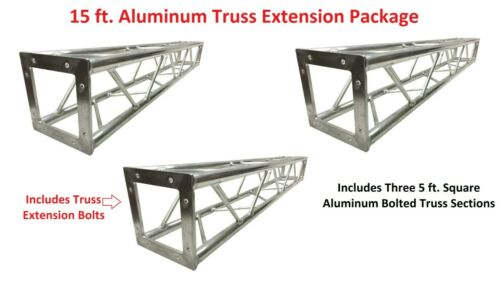 3x 5ft Lighting Square Aluminum Bolted Truss 15
