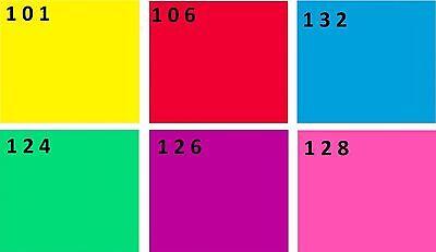 6er Set PAR 64 Farbfolien 24 x 24 cm Farbfilter Farbfolie PAR64 Filter Color Mix