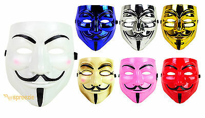 V for Vendetta Mask Guy Fawkes Anonymous Cosplay Masquerade Halloween Costume - Costumes For Guys Halloween