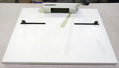 Heidelberg Nela A10909016a Bench Top 220 Mm Offset Press Plate Punch