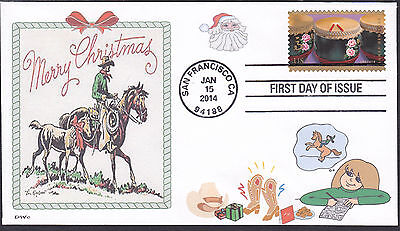 PONY CHRISTMAS  LETTER TO SANTA   COWBOY    HORSE     FDC- DWC CACHET
