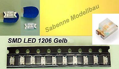 10 Stück SMD LED 1206 Gelb C2889