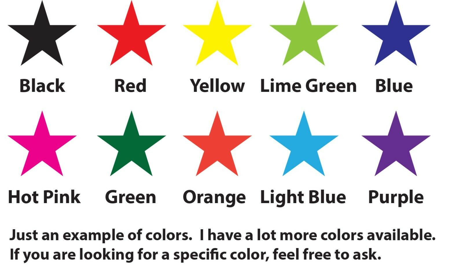 Home Decoration - Star Vinyl Decal - Stickers Lot Choose your size and color