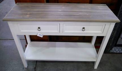 New French Provincial White Timber Hallway Table Hall Console 2Dr Richmond Yarra Area Preview