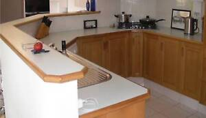 Kitchen bench-top & bar-top & double bowl sink - excellent cond.