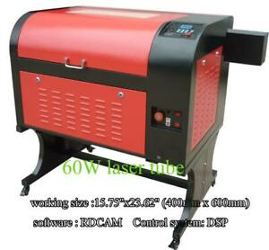 110V DSP 60W 15.75x 23.62 4060 CO2 USB Laser Engraver Cutter Machine with Stand 130068