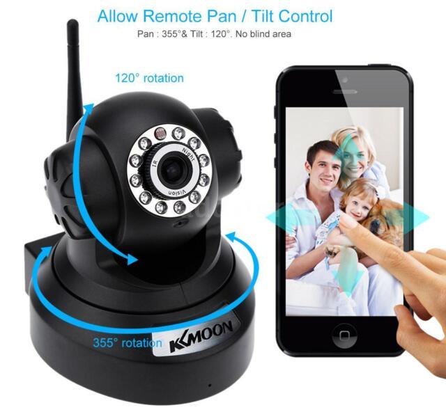 KKMOON 720P HD Camera PnP P2P AP Pan Tilt IR WiFi Wireless Network IP Webcam AD