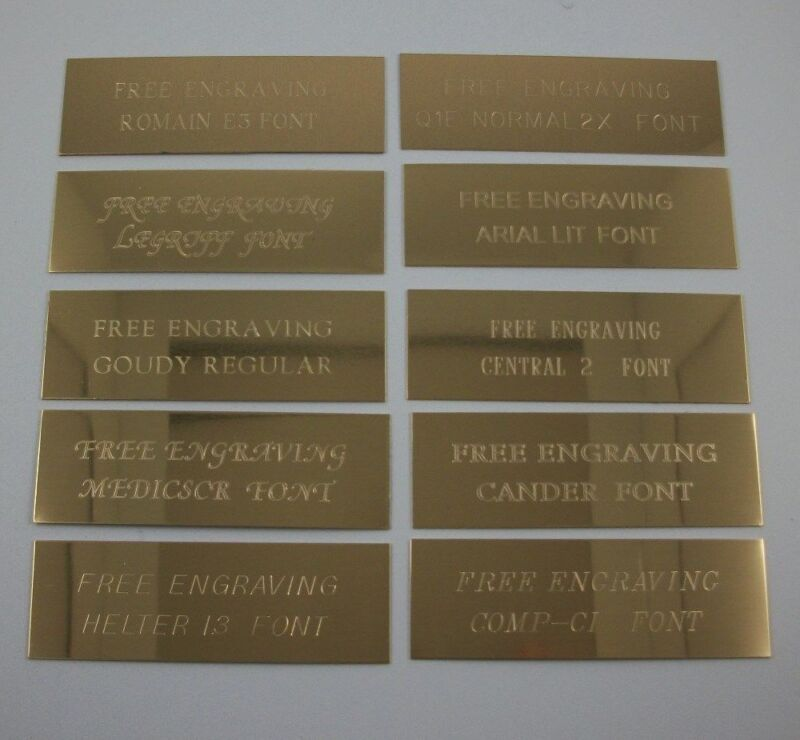"""Custom Engraved 3"""" x 1""""  Brass Trophy, Sign Name Plate ."""
