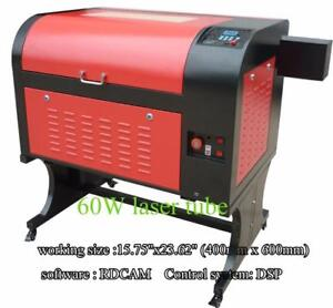 """110V DSP 60W 15.75""""x 23.62"""" 4060 CO2 USB Laser Engraver Cutter Machine with Stand 130068"""