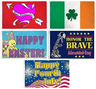 Großhandel Menge von 5 Flaggen 3x5 Sommer Frühling Urlaub Set 0.9mx5' Polyester (Urlaub Dekorationen Großhandel)