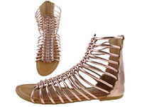 Brand new in Box gorgeous Lightweight Summer Gladiator Gold Sandals Size UK 6