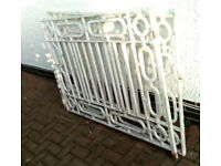 solid wrought iron steel metal gates not tubular very heavy , but very elegant & decorative