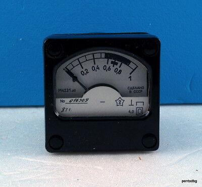 Analog Panel Miliamper Meter Dc 0-1ma 4 M4231.62 Military Ussr Rare