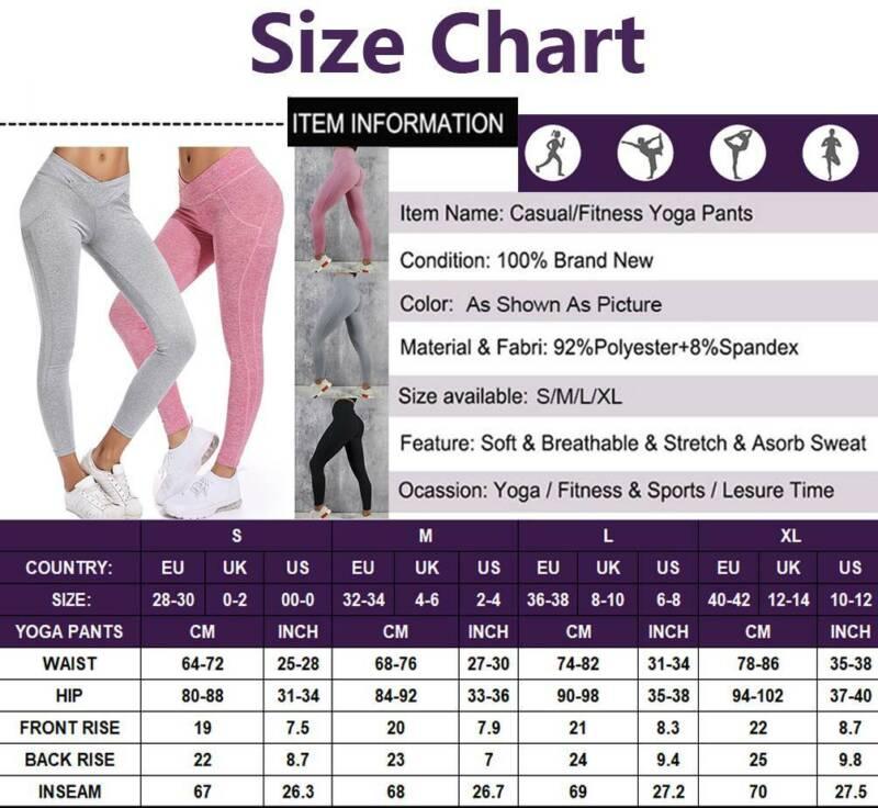Frauen Leggings Yoga Hose Schwarz Fitness Gym Sporthose Hohe Taille  Leggins M2