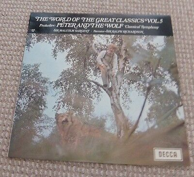 """The World of the Great Classics Vol.5, Prokofiev Peter & The Wolf Symp 12""""Record"""