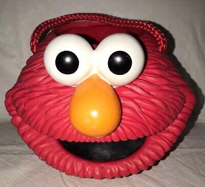 Sesame Street Bucket Pail (Sesame Street Elmo Hard Solid Plastic Halloween Easter Bucket Pail Applause)