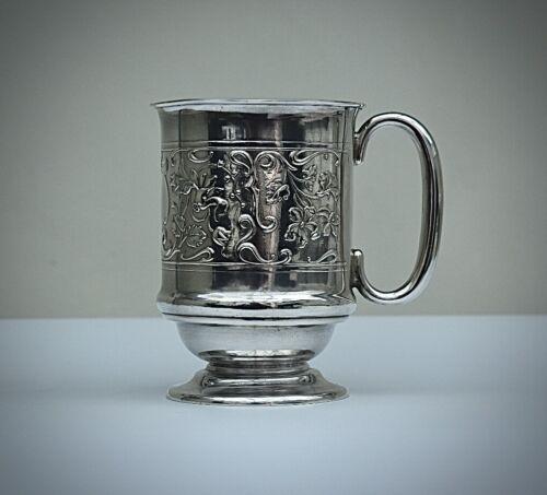 Antique Lovely Sterling Silver Christening Mug, Crisford & Norris,Birmingham1907