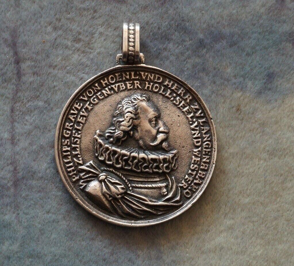 Medaille 1604. Silber. Philipp Ernst zu Hohenlohe-Neuenstein 1550-1606