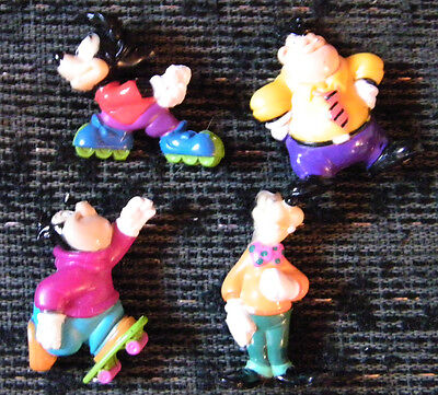 DISNEY KELLOGG GOOFY TROOP PVC. FIGURES SET OF 4 1991 MINT