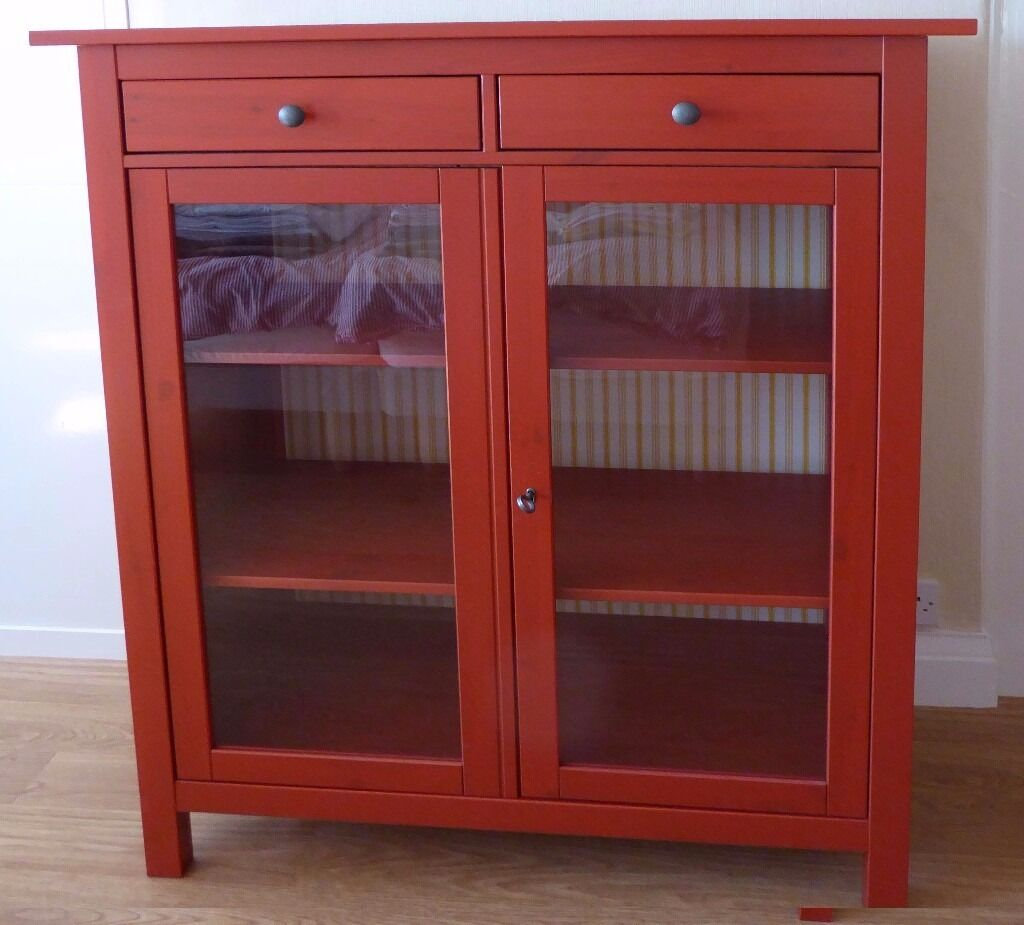 Linen Or Storage Gl Front Cupboard Ikea Hemnes