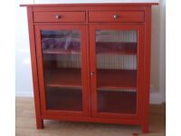 Linen or storage glass front cupboard, IKEA Hemnes
