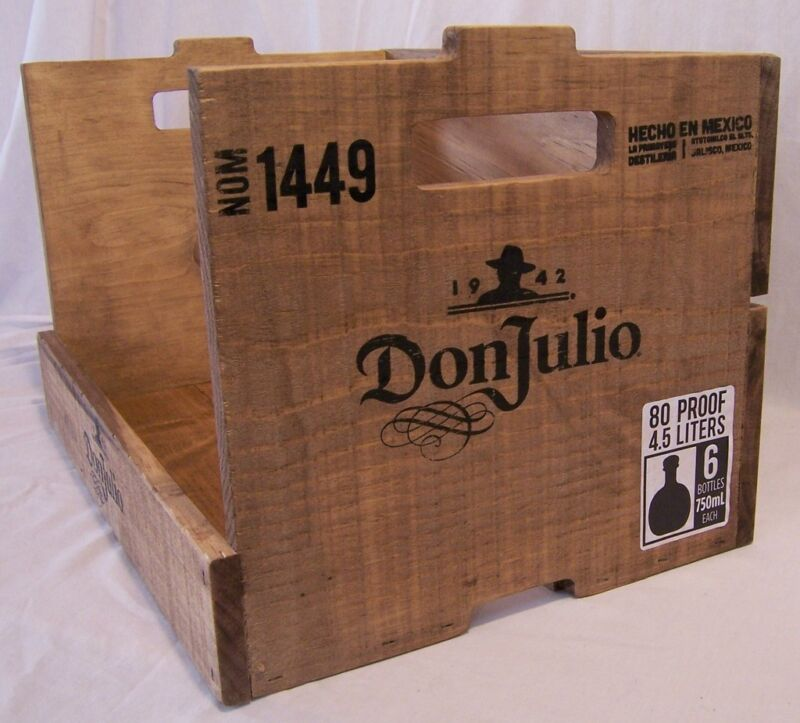 NEW Don Julio Tequila Decorative Wood Wooden Crate Barware Advertising