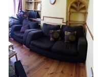 2 +1 seat sofa and footstools