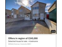 For Sale - 4 Bedroom Linked Detached House in Inverurie