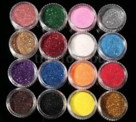 16 Glitter Eyeshadow Pigments
