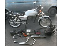 HONDA CB125 CB 125 TD-C 85% COMPLETE PROJECT ENGINE FRAME WHEELS EXHAUST