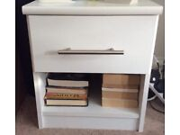2x White bedside units