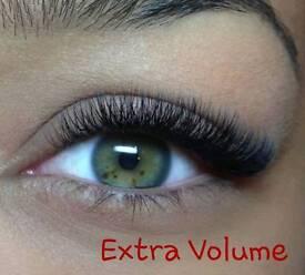 Eyelash extension & brow styling