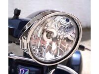Chrome Bezel Headlight Surround Trim For Vespa PX