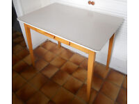 Retro Formica Kitchen Table with Drawer