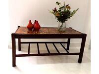 Vintage Retro Teak Tiled Coffee Table Mid Century